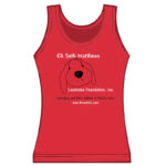 Ladies Puppy Tank Top red
