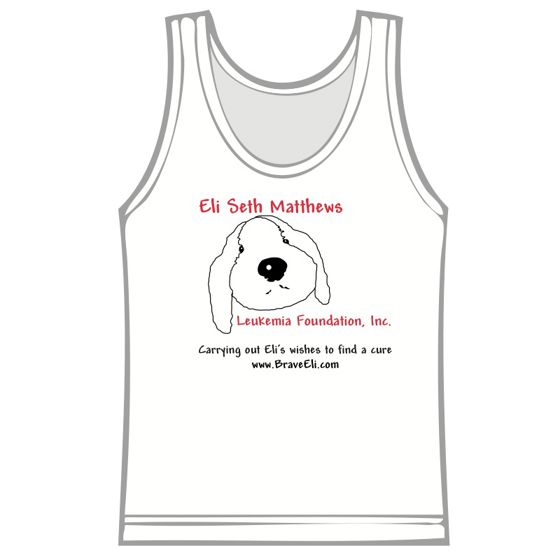 Men's Puppy Tank Top white